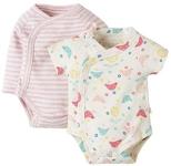 Frugi Kimono 2 pack bodysuits (chickadee), newborn