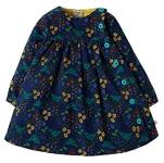 Frugi Little bonnie button dress (forest forager), 2-3 yrs