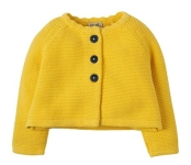 Frugi Carrie knitted cardigan (sun yellow), 18-24 mths