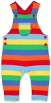 Toby Tiger Multi stripe dungarees, 2-3 yrs