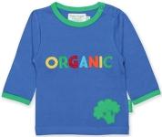 Toby Tiger Organic slogan t-shirt, 1-2 yrs