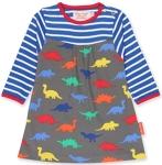 Toby Tiger Dinosaur print dress, 1-2 yrs