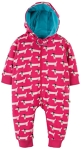 Frugi Snugglesuit raspberry beret dogs, 12-18 mths