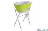 Babybad Hoppop met staander + afvoerslang en 2 sluitventieltjes