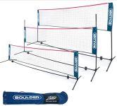Portable Badminton Net Set: for Tennis, Soccer Tennis, Pickleball, Kids Volleyball