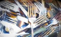 10 assorted dinner forks