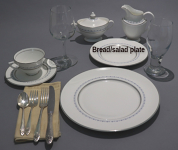 10 assorted bread/salad plates