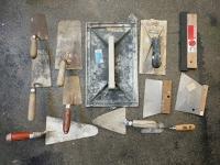 Lot d'outils plâtre / ciment