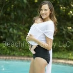 BeachFront Baby Water Wrap - White - Long 5