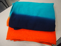 Wrapsody BWI Blue & Orange Breeze Gauze Wrap