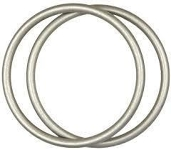 Sling Rings Medium Silver