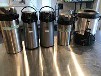 Coffee Carafes, urn, hot water carafe