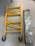 Yellow Scaffold with Black Platforms
