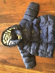 0-6 month girls navy blue winter coat