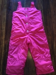 2T girls pink snow pants