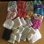 Nappies kit 18 (Foxes & Navy Ribbon) Birth to Potty