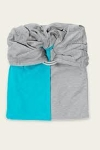 Je Porte Mon Bebe Stretchy Ring Sling Aqua and Grey