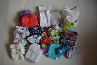 Nappies Kit 02 (Handprints) - Birth to Potty (velcro freetime - elastics gone on flip)