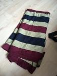 Lenny Lamb Woven wrap burgundy stripes