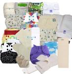 Nappies WRAPS/ Night Kit 01 (SWIRLS) WRAPS & INSERTS / NIGHT Birth to Potty