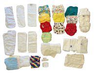 Nappies kit 35 Birth to Potty Sports (green keyring)