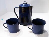 Camping Coffee Pot and Mugs
